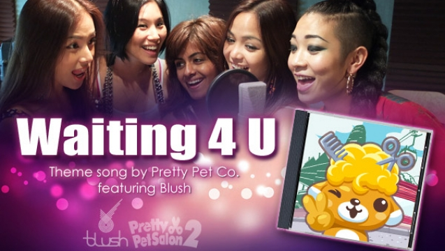 Blush records a song for Pretty Pet Salon!