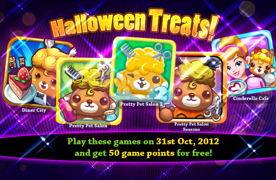 Free Points for Pretty Pet games this Halloween